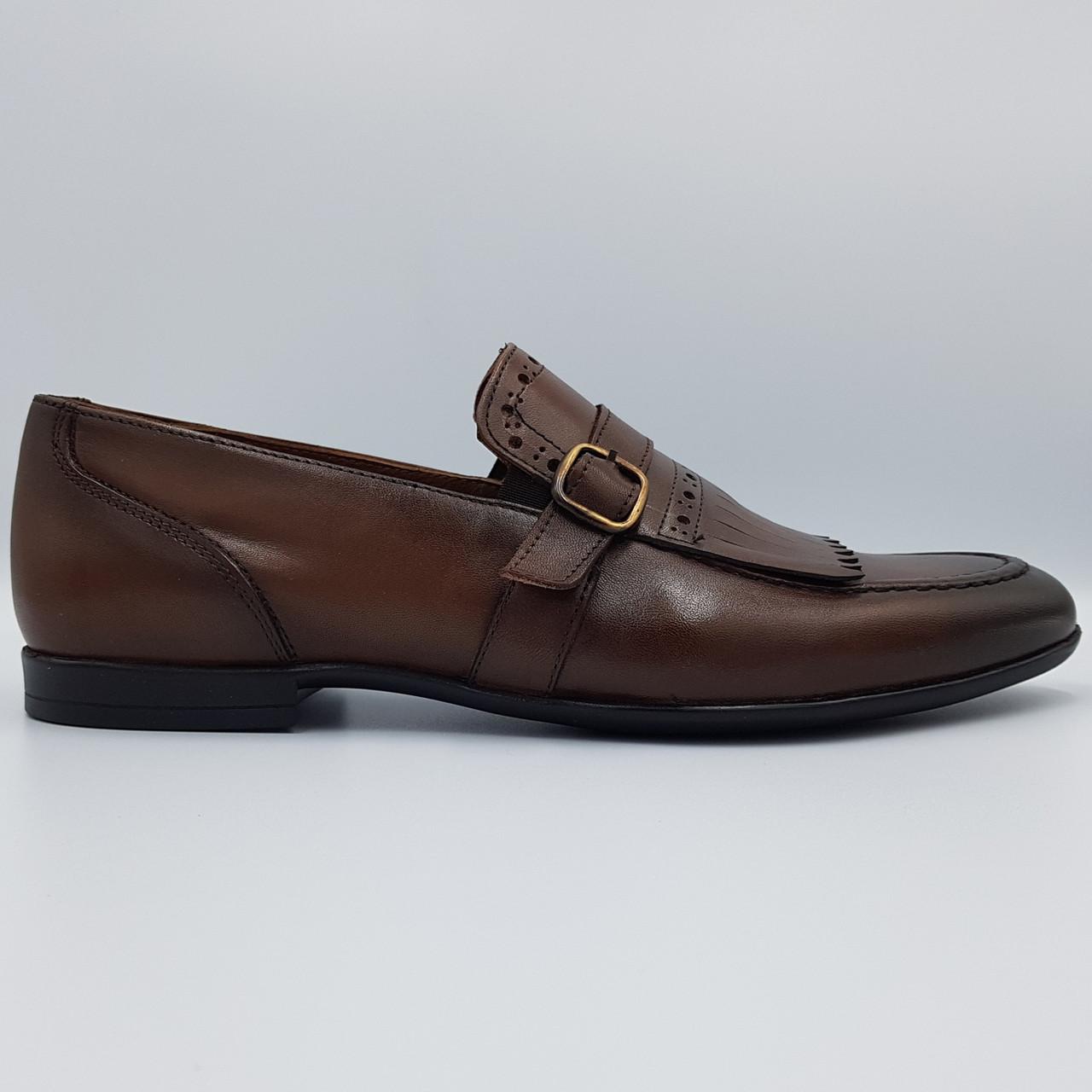 Мужские туфли лоферы Luciano Bellini коричневые L0025/25