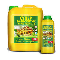 Антисептик для дерева и бетона концентрат 1:4 Ispolin 1л, (биозащита от грибка исполин)