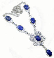 Серебряное ожерелье с лазуритом (Ляпис лазурь)