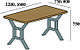 Стіл обідній Хенк (стол обеденный) в стилі Лофт Loft, фото 2