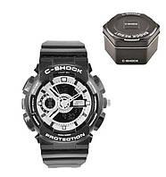 Наручные часы Casio G-Shock ga-100 Silver (касио джи-шок серебро) в коробке Модные спортивные мужские