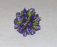 """Букетик из ткани """"Тюльпаны"""" фиолетовый 4038-13, фото 1"""