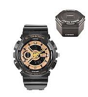 Наручные часы Casio G-Shock ga-110 Gold (касио джи-шок золото) в коробке Модные спортивные мужские