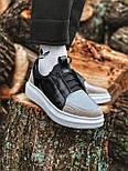 😜Кросівки - Чоловічі кросівки на шнурках з високою білою підошвою, фото 3