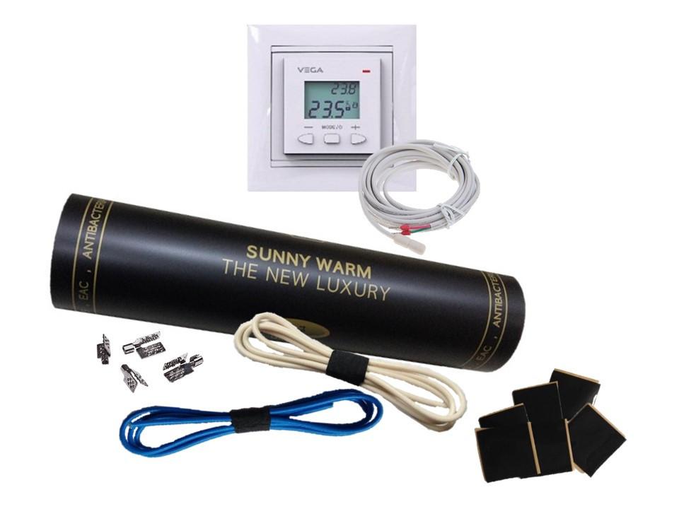 Готовый комплект с програматором VEGA LTC 070 (1м2) SUNNY WARM ( Премиум)