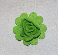 Высечка Розочка салатовая  399-24, фото 1