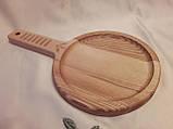 Тарелка деревянная 35х20 см. с декорированной ручкой из черешни, ясеня НМ-44, фото 3