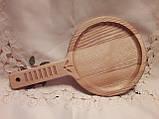 Тарелка деревянная 35х20 см. с декорированной ручкой из черешни, ясеня НМ-44, фото 7