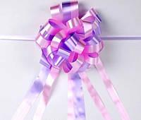 Бант-затяжка (ш. ленты 5,5 см, д. 23 см) розово-сиреневый для упаковки подарков полипропилен