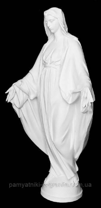 """Скульптура """"Дева Мария"""" из искусственного мрамора - 120 см"""