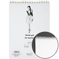 Альбом для маркеров на спирали SMILTAINIS AUTHENTIC (50) 100г/м2 А3
