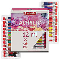 Набор акриловых красок ArtCreation 24 цветов 12 мл тубы в картоне (9021724M)