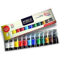 Набор акриловых красок ROSA Studio 11 цветов 20 мл тубы в картоне