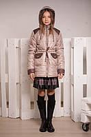 Осеняя куртка-парка для девочки, размеры 34, 36, 38, 40. (арт.К-101)