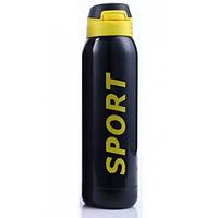 Термос Sport 500 мл с трубочкой и поилкой Черный с желтым 220055, КОД: 1382145