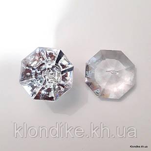 Бусины кристаллы (подвески), конус, 3.5×2.0 см, Цвет: Прозрачный (5 шт.)