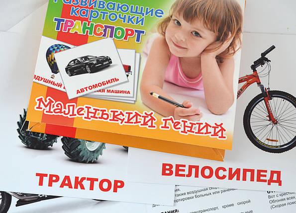 """Набір дитячих карток 1Вересня """"Транспорт"""", 15шт/упак., 951295, фото 2"""