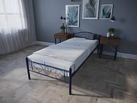 Кровать MELBI Лара Люкс Односпальная 90х200 см Ультрамарин, КОД: 1389130
