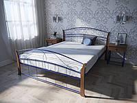 Кровать MELBI Селена Вуд Двуспальная 140190 см Ультрамарин КМ-008-02-7уль, КОД: 1452791