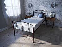 Кровать MELBI Летиция Односпальная 80190 см Бордовый лак КМ-007-01-1бор, КОД: 1453781