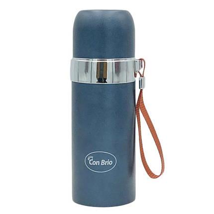 Термос Con Brio объем 350мл  с ремешком, 381сер, фото 2