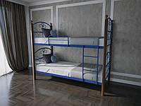 Кровать MELBI Патриция Вуд Двухъярусная 90190 см Ультрамарин КМ-001-03-9уль, КОД: 1416789