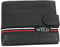Кошелек мужской Always Wild из натуральной кожи Черный SN992LGV Black, КОД: 1383089