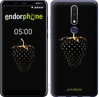 Силиконовый чехол Endorphone на Nokia 3.1 Plus Черная клубника 3585u-1607-26985, КОД: 1390313