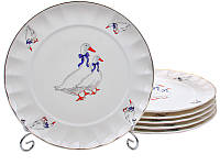Набор из 6 подставных тарелок Гуси 26 см Lefard 943-177