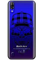 Прозрачный силиконовый чехол iSwag для Blackview A60 с рисунком - Бородатый череп H612, КОД: 1429075