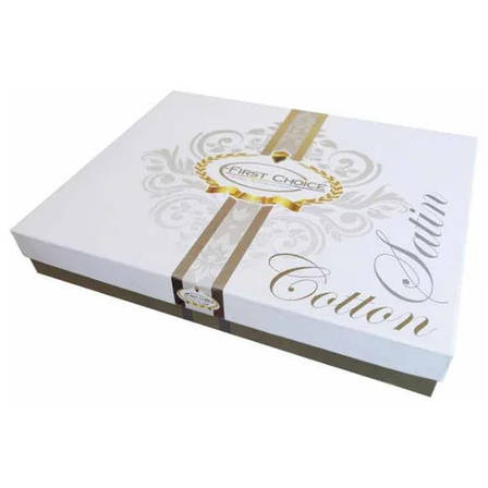 Комплект постельного белья First Choice Satin Calisto Leylak 160х220х2 Семейный, фото 2