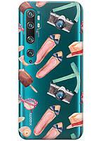 Прозрачный силиконовый чехол iSwag для Xiaomi Mi Note 10 Pro с рисунком - Женские штучки H312, КОД: 1398317