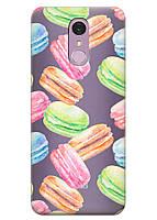 Прозрачный силиконовый чехол iSwag для LG Q7 с рисунком - Французские печенья H527, КОД: 1398927