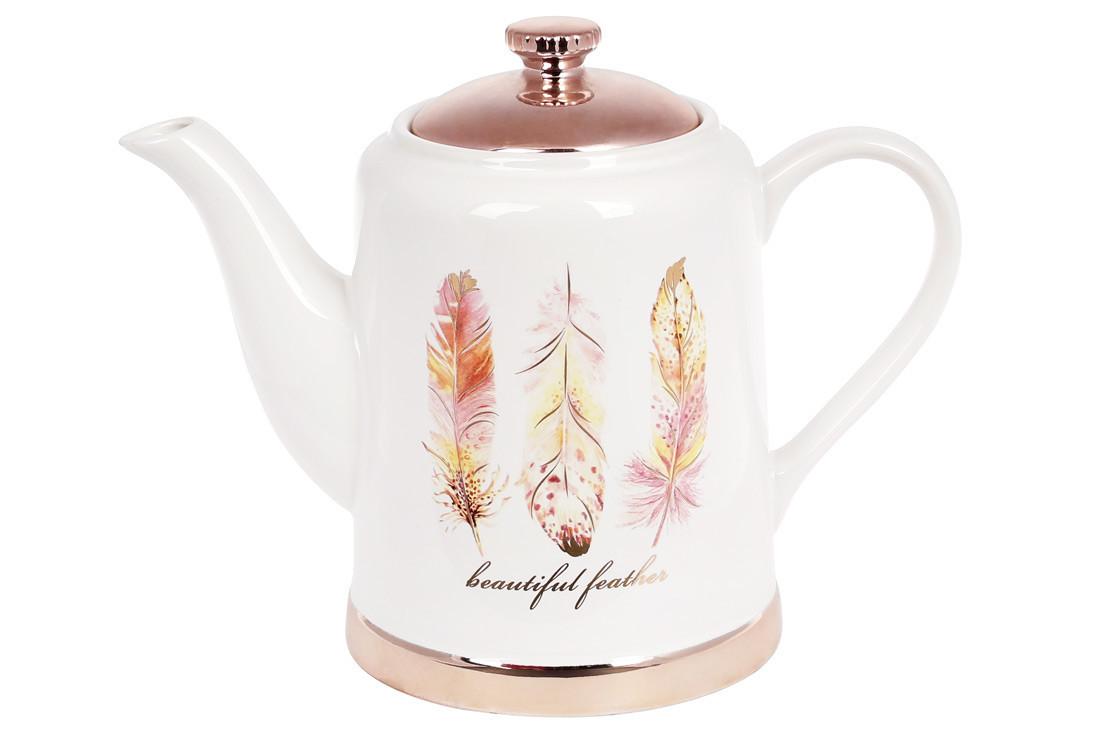 Чайник керамічний Плюмаж, 1л BonaDi, 935-123