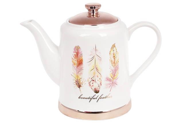 Чайник керамічний Плюмаж, 1л BonaDi, 935-123, фото 2