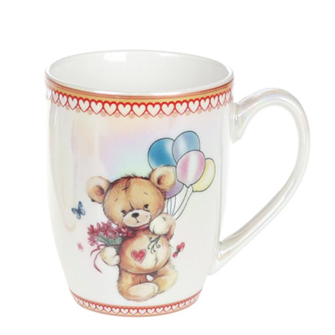 """Фарфорова Чашка 340мл """"мі-Мі ведмедики"""" в коробці """"BonaDi"""", 588-155"""