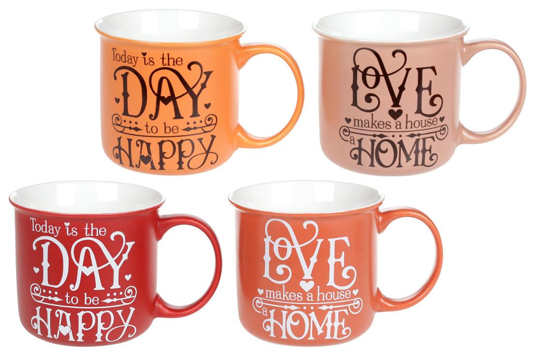"Чашка фарфоровая 400мл ""Home and Love"" BonaDi, 577-572"