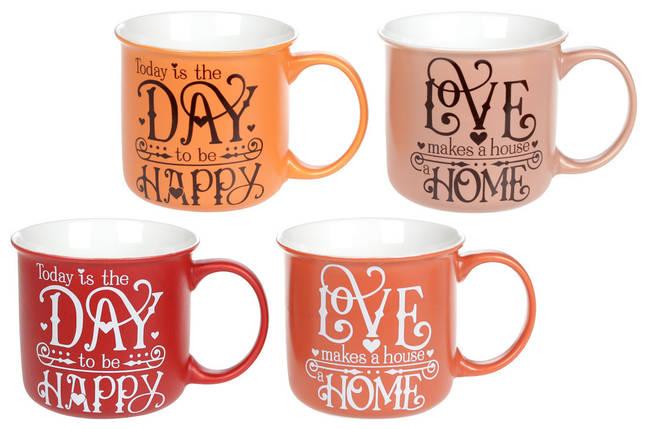 "Чашка фарфоровая 400мл ""Home and Love"" BonaDi, 577-572, фото 2"
