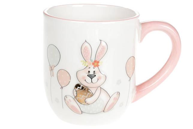 """Чашка керамическая 500 мл""""Веселый кролик"""" с обьемным рисунком Bona Di, DM135-E, фото 2"""