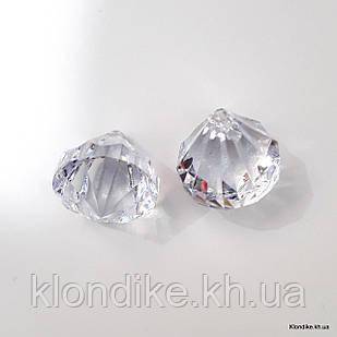 Бусины кристаллы (подвески), конус, 3.5×3.0 см, Цвет: Прозрачный (5 шт.)