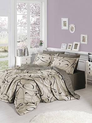 Комплект постельного белья First Choice Satin Advina Vizon 160х220х2 Семейный, фото 2