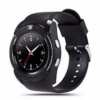 Смарт-часы UWatch V8 Black IPS круглый экран 1,22 дюйма USB 3.0 батарея 280мАч Android сенсор+кно, КОД: 1397952
