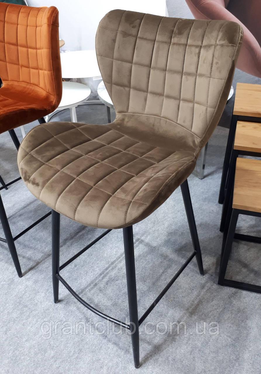 Полубарный стул B-22 капучино велюр Vetro Mebel (бесплатная доставка)