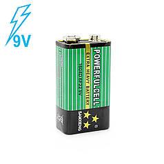 Батарейка крона солевая Lesko 6F22 (9V) для тестеров вспышек