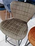 Полубарный стул B-22 капучино велюр Vetro Mebel (бесплатная доставка), фото 4