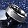 """Кольцо из нержавеющей стали """"Супермен"""", серебристое анодирование, 1359КЖ, фото 3"""