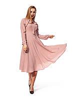 Пудровое платье из ткани софт, фото 1