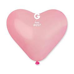 """Шар СЕРДЦЕ 10"""" (25 см) Gemar пастель 57 розовый (Джемар)"""