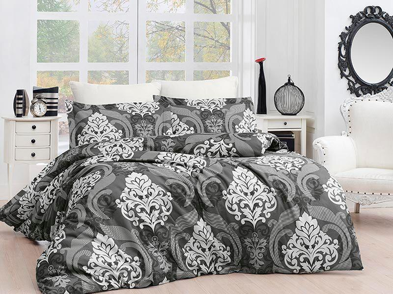 Комплект постельного белья First Choice Satin Ceylin Kahve 160х220х2 Семейный