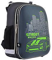 Рюкзак шкільний каркасний YES H-12 Street Racing Чорний 555966, КОД: 1247901
